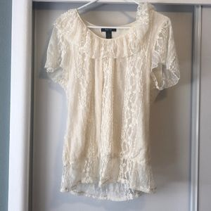 Style&co Women's Large lace shirt